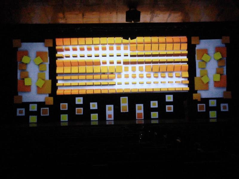 Videomapping Tarima