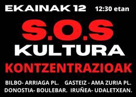 SOS cultura manifestación
